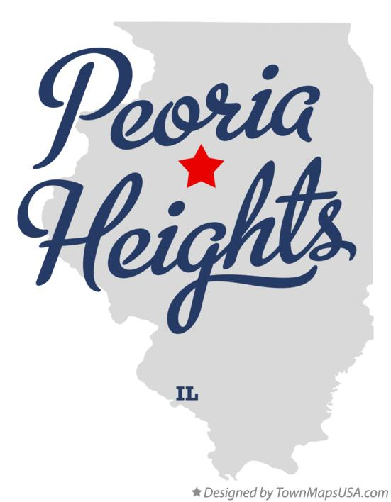 Map of Peoria Heights Illinois IL