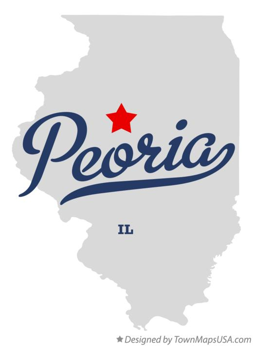 Map of Peoria, IL, Illinois