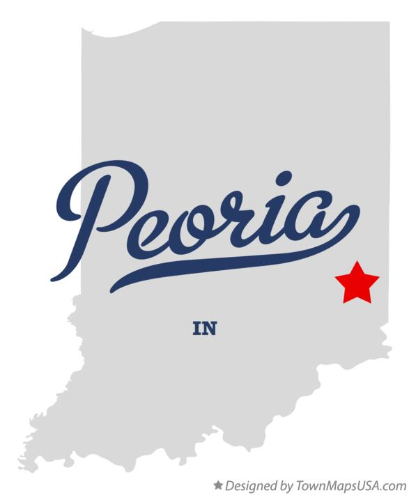 Map of Peoria Indiana IN