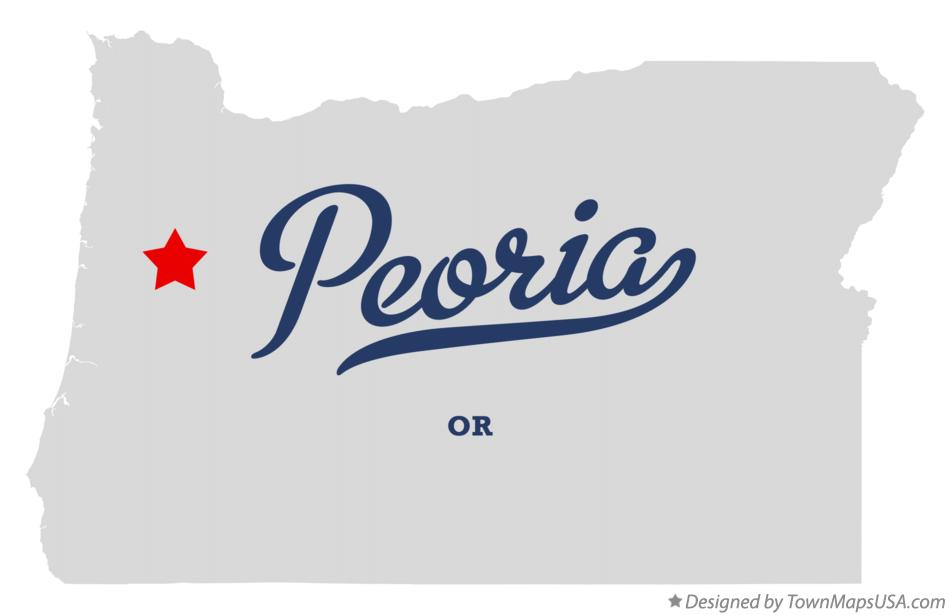 Map of Peoria Oregon OR