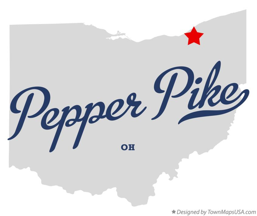 Map of Pepper Pike Ohio OH