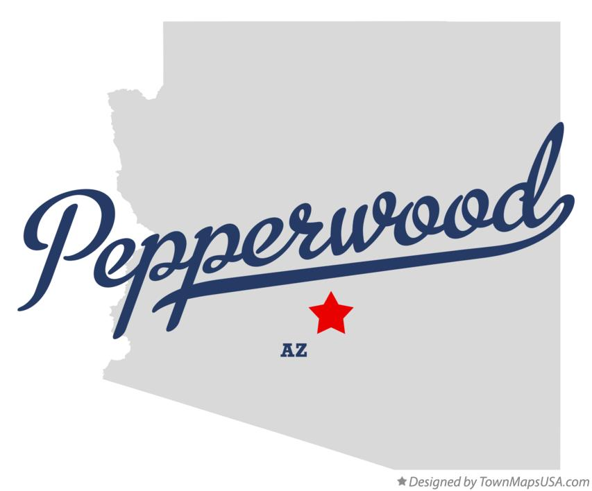 Map of Pepperwood Arizona AZ