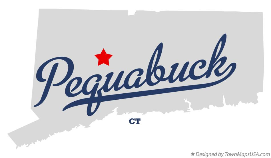 Map of Pequabuck Connecticut CT