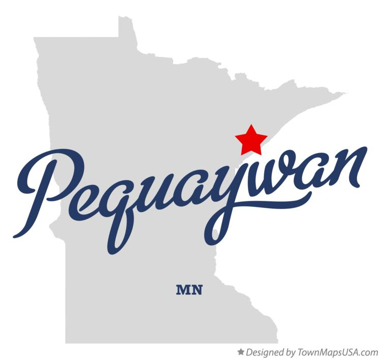 Map of Pequaywan Minnesota MN