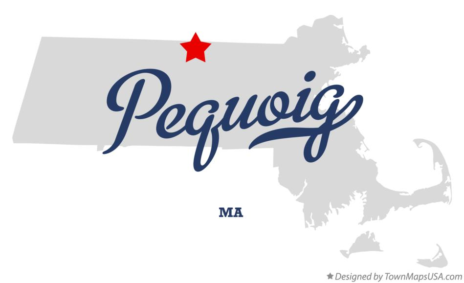 Map of Pequoig Massachusetts MA