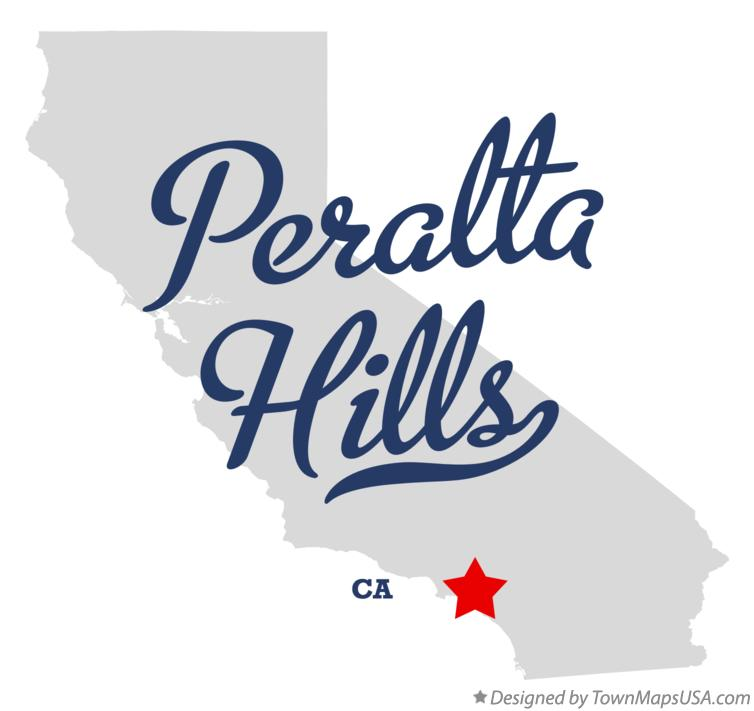 Map of Peralta Hills California CA