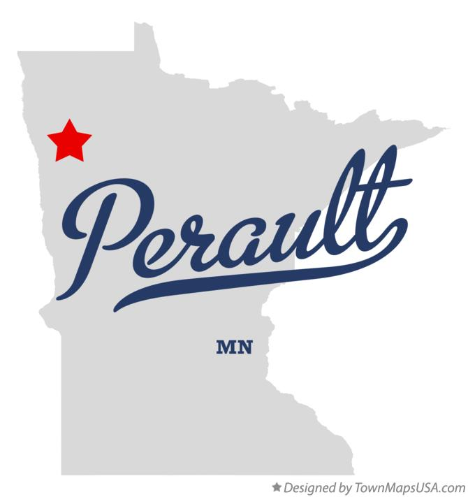 Map of Perault Minnesota MN