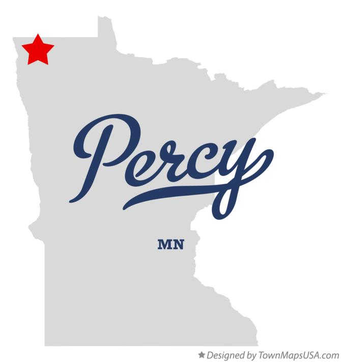 Map of Percy Minnesota MN