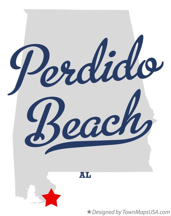 Map of Perdido Beach Alabama AL