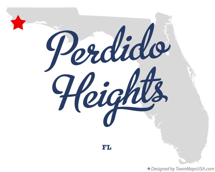 Map of Perdido Heights Florida FL