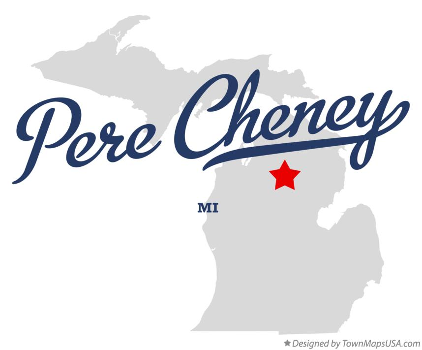 Map of Pere Cheney Michigan MI