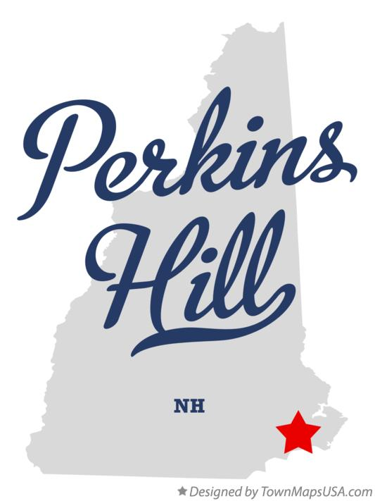 Map of Perkins Hill New Hampshire NH