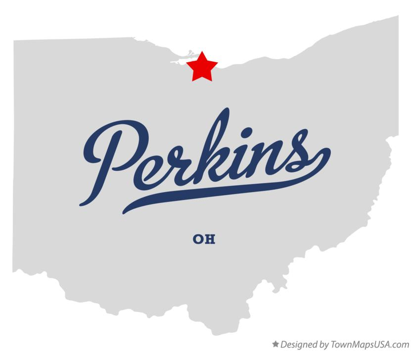 Map of Perkins Ohio OH