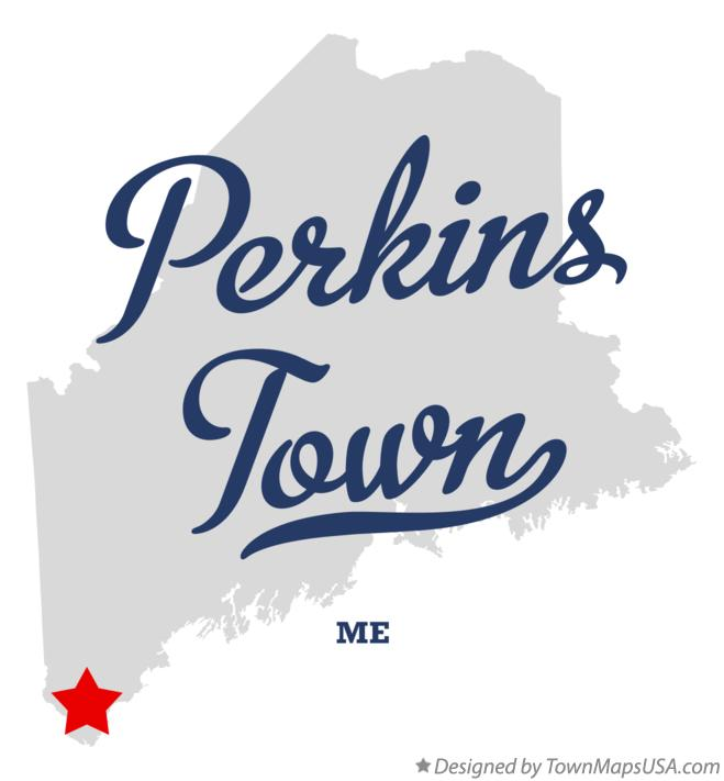 Map of Perkins Town Maine ME