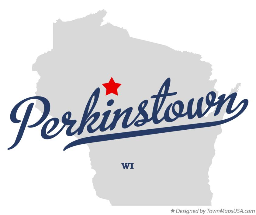 Map of Perkinstown Wisconsin WI