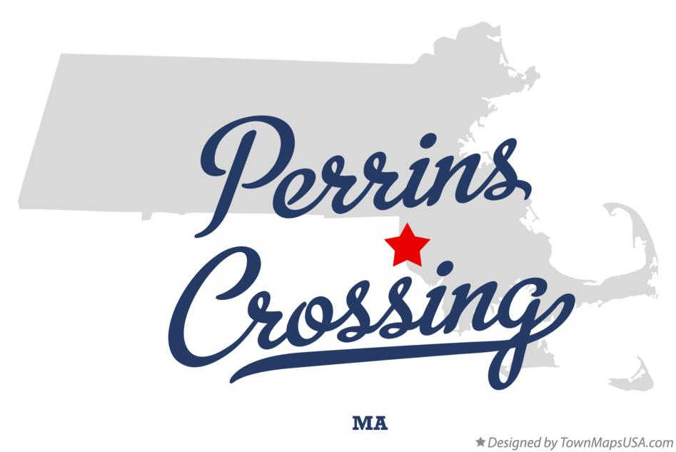 Map of Perrins Crossing Massachusetts MA