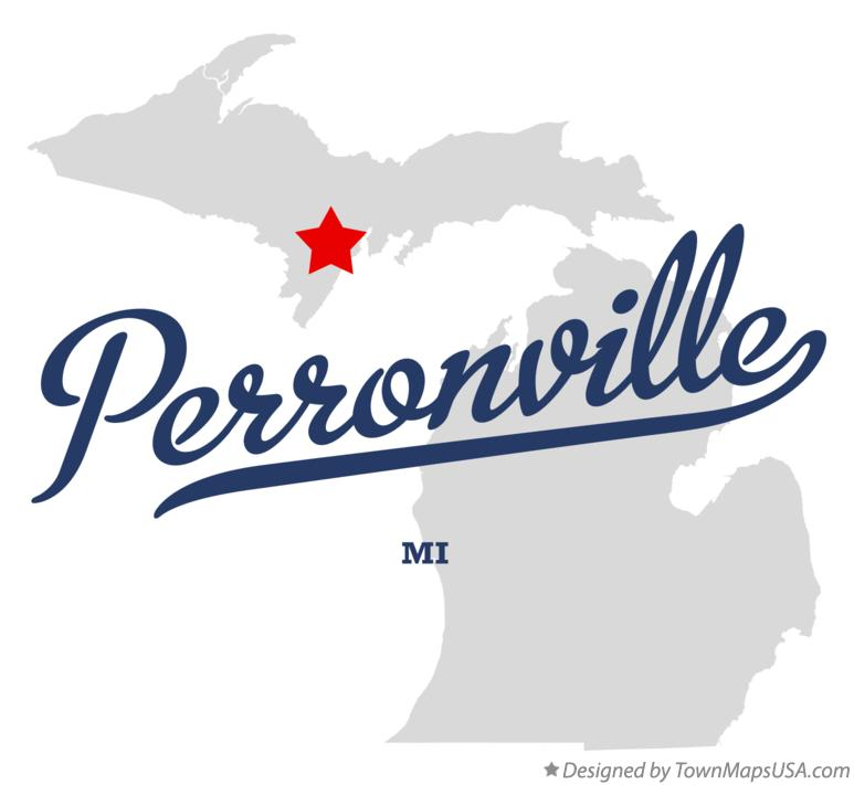 Map of Perronville Michigan MI