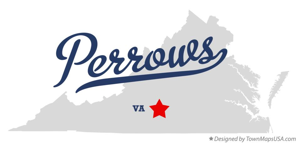 Map of Perrows Virginia VA