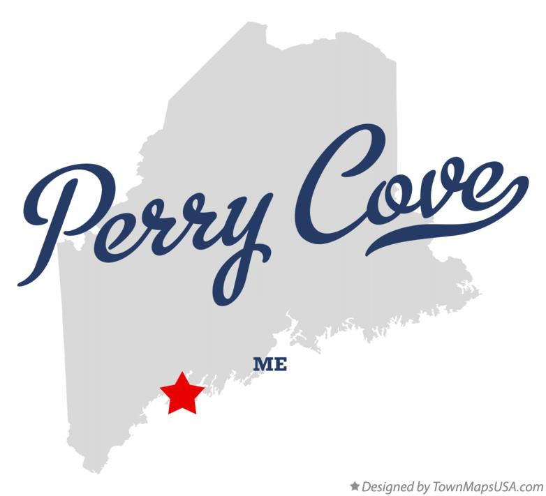Perry Maine Map.Map Of Perry Cove Me Maine