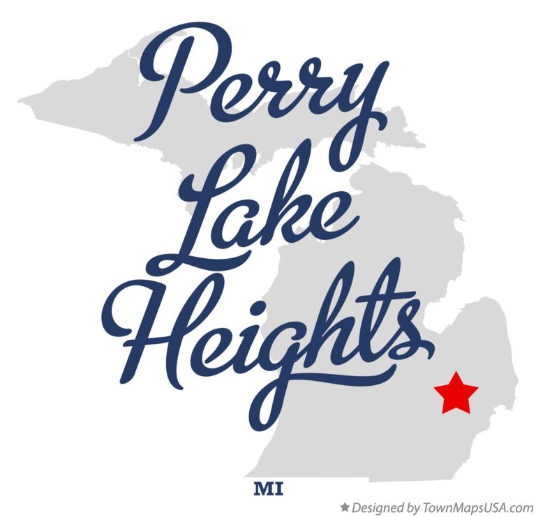Map of Perry Lake Heights Michigan MI