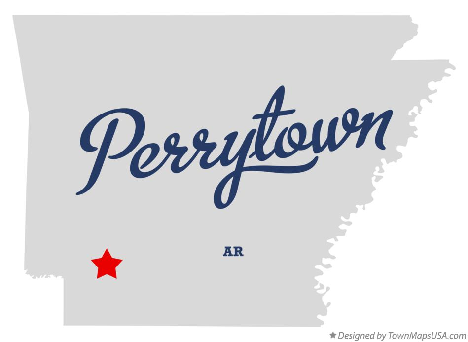 Map of Perrytown Arkansas AR