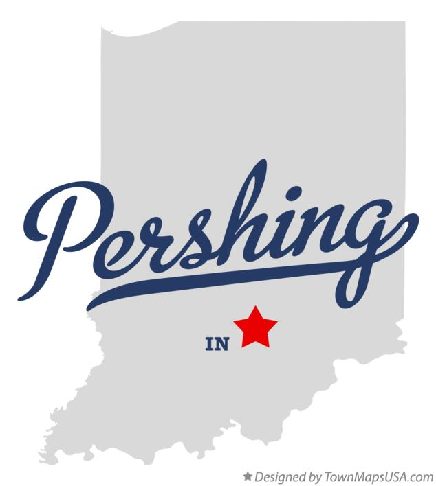 Map of Pershing Indiana IN