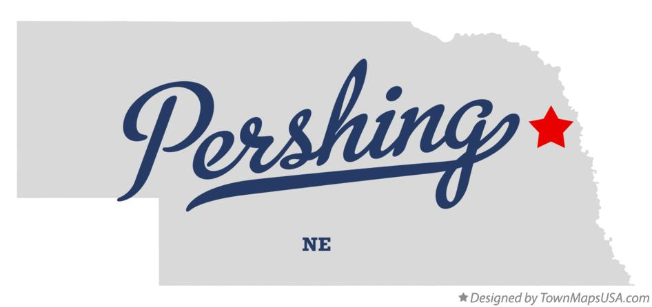 Map of Pershing Nebraska NE