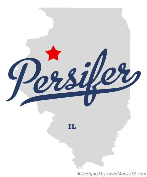 Map of Persifer Illinois IL
