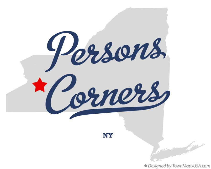 Map of Persons Corners New York NY