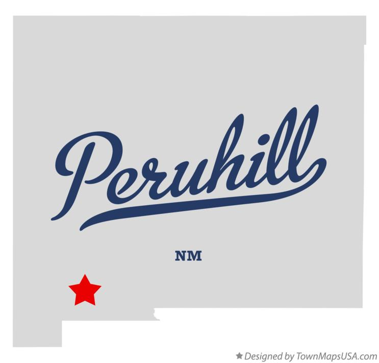 Map of Peruhill New Mexico NM