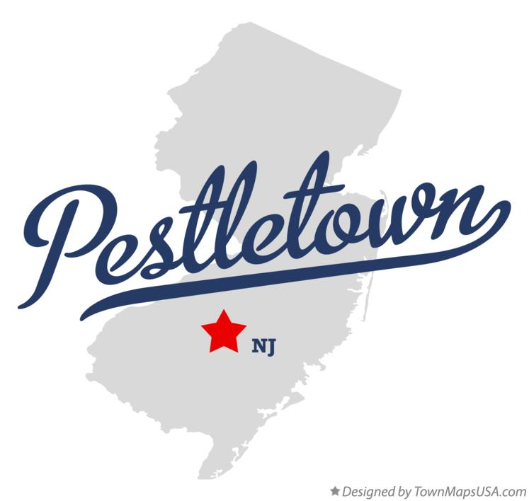 Map of Pestletown New Jersey NJ
