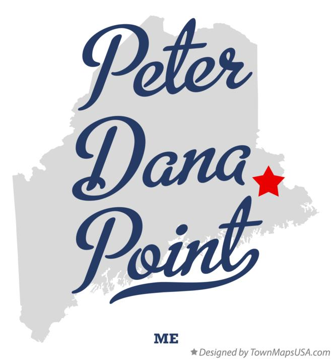 Map of Peter Dana Point Maine ME