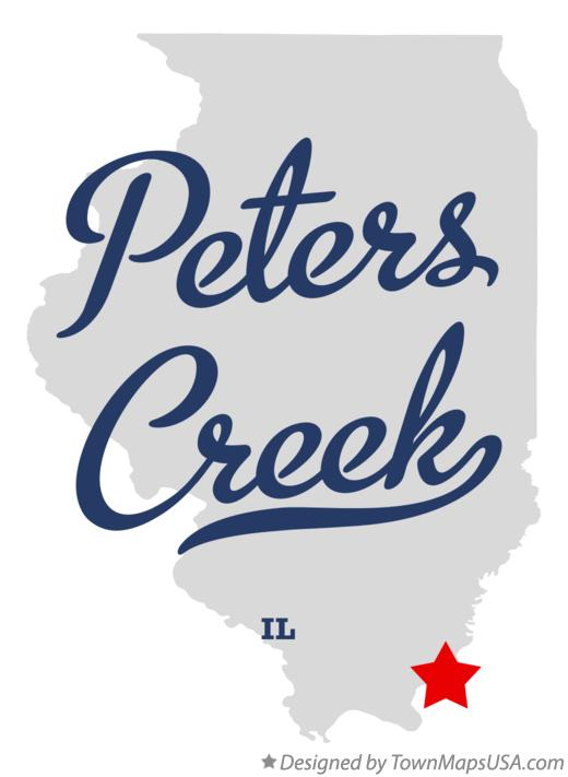 Map of Peters Creek Illinois IL
