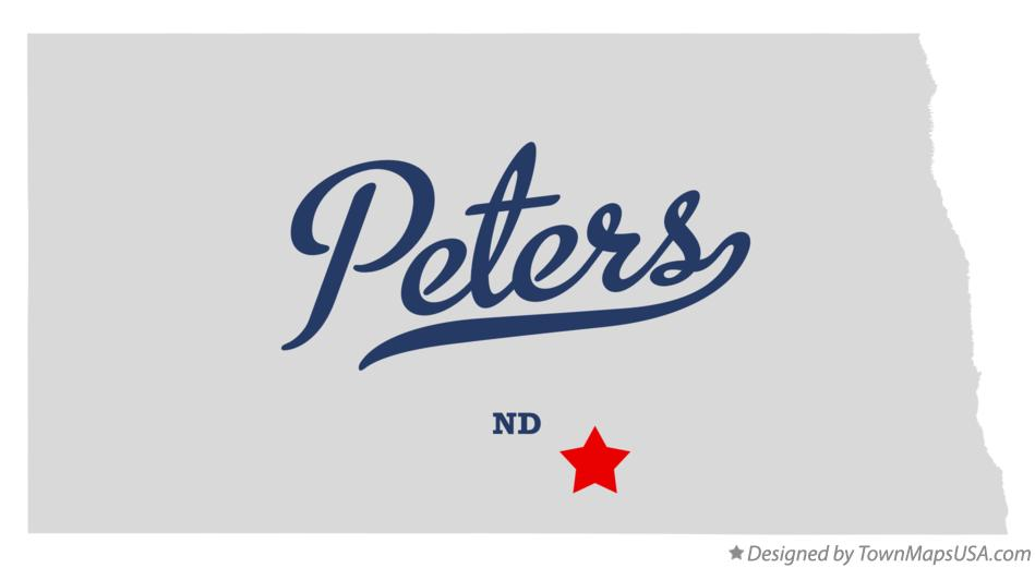 Map of Peters North Dakota ND