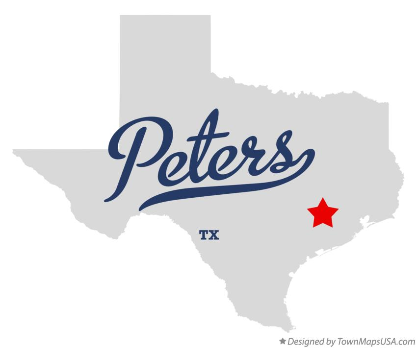 Map of Peters Texas TX