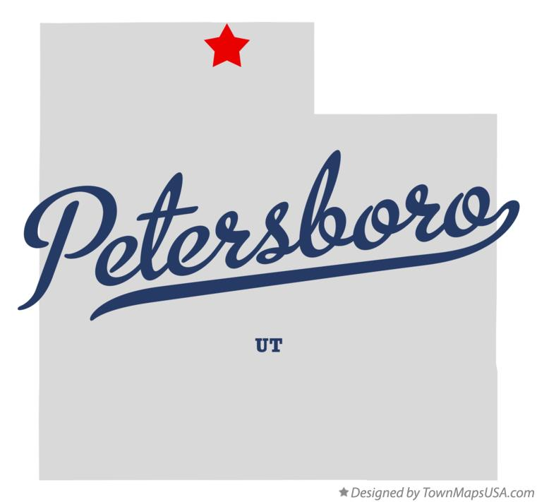 Map of Petersboro Utah UT