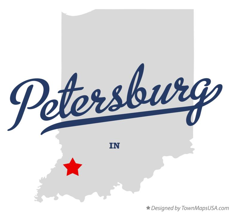 Map of Petersburg Indiana IN