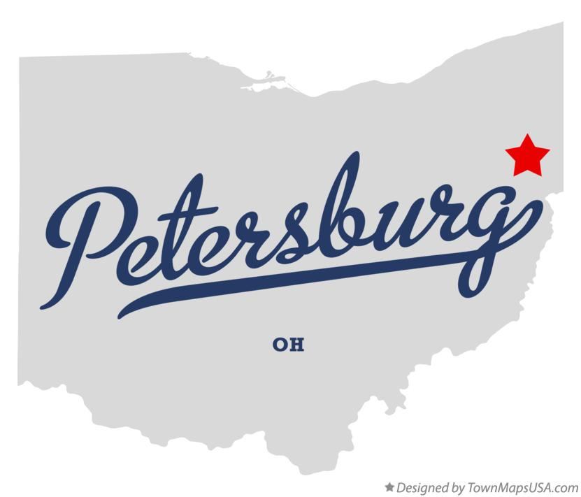 Map of Petersburg Ohio OH