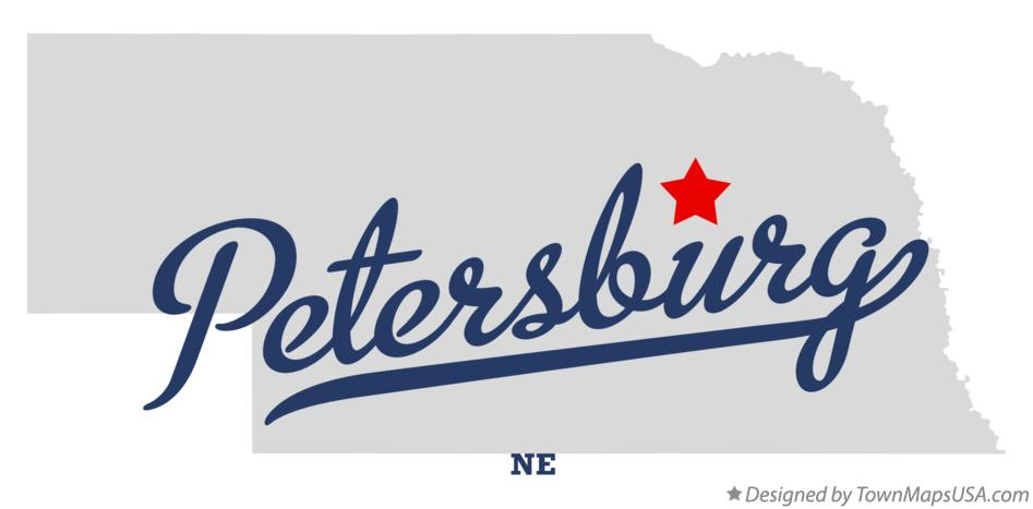 Map of Petersburg Nebraska NE