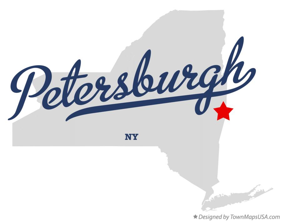 Map of Petersburgh New York NY