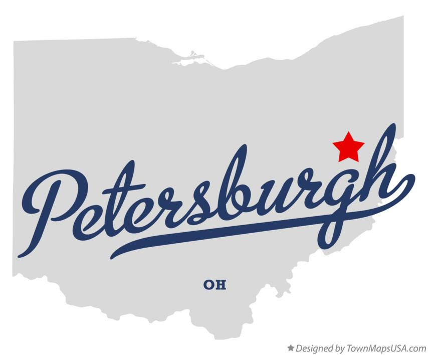 Map of Petersburgh Ohio OH