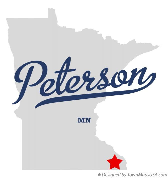 Map of Peterson Minnesota MN