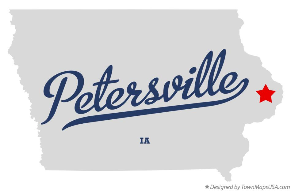 Map of Petersville Iowa IA