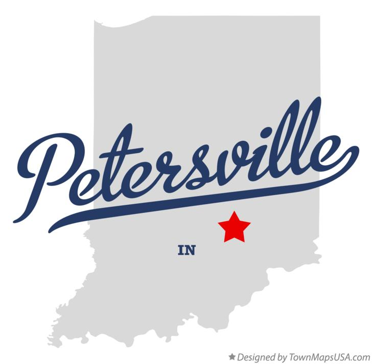 Map of Petersville Indiana IN