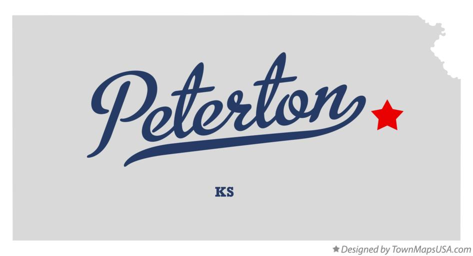 Map of Peterton Kansas KS