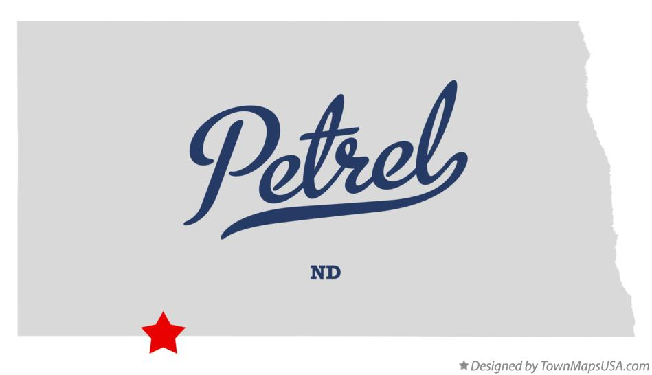 Map of Petrel North Dakota ND