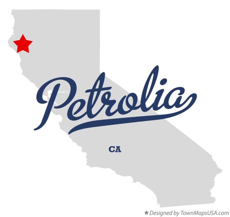Map of Petrolia California CA