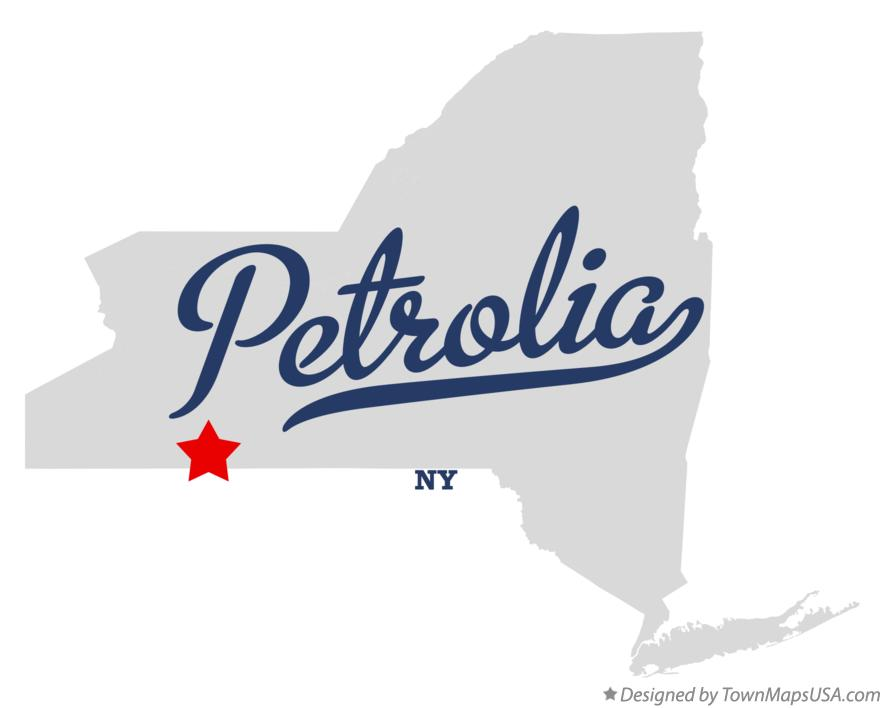 Map of Petrolia New York NY