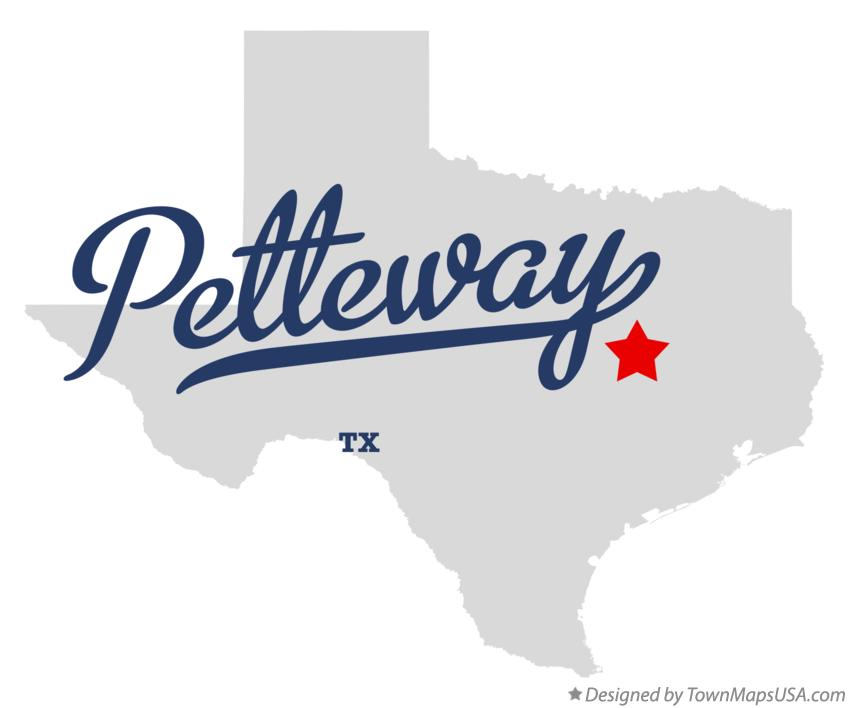 Map of Petteway Texas TX