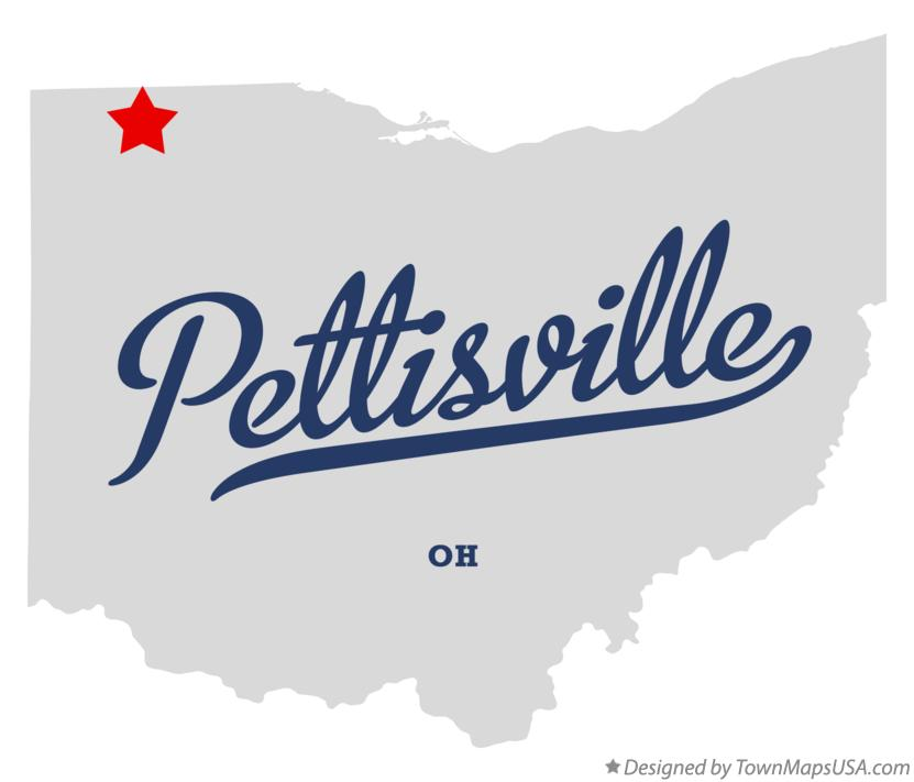 Map of Pettisville Ohio OH